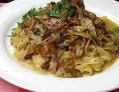 Eierschwammerl Tagliatelle - Rezept - ichkoche.at Hungarian Recipes, Pasta Dishes, Spaghetti, Food Porn, Chicken, Health, Ethnic Recipes, Food Ideas, Al Dente