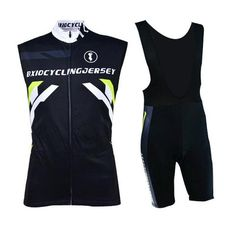 Men's Black Sleeveless Cycling Jersey Set #Cycling #CyclingGear #CyclingJersey #CyclingJerseySet