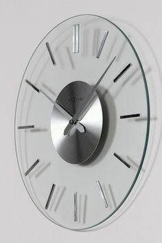 Fabio Glass Wall Clock design by Nextime