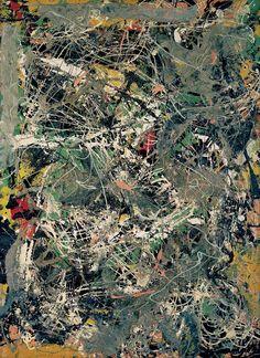 Jackson Pollock / Untitled / c. 1949 / paper, enamel, and aluminum paint on fiberboard