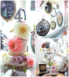 Mad Hatter Birthday Tea Party via Kara's Party Ideas KarasPartyIdeas.com (2)