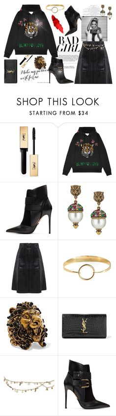 """Look what you made me do"" by nicolleeliza ❤ liked on Polyvore featuring Yves Saint Laurent, Gucci, Balmain, MANIAMANIA and Chanel"