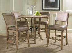 Hillsdale Charleston Round Counter Height Dining Set With Parson Stool