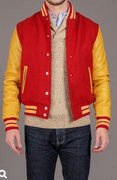 Golden Bear Insleeve Varsity Jacket / Perfect Coloring
