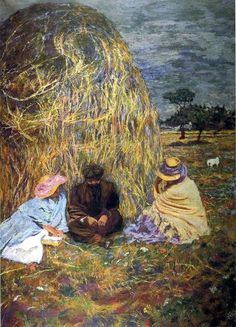 Edouard Vuillard, The Haystack on ArtStack #edouard-vuillard #art