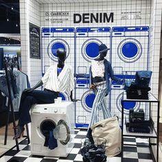 """DE BIJENKORF,Eindhoven Maastricht, The Netherlands, """"Denim Laundry"""", pinned by Ton van der Veer"""