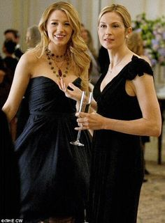High society role: Rutherford stars as Serena's (Blake Lively) mother Lily van der Woodsen in Gossip Girl