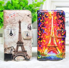Fashion Oil Painting Eiffel Tower purpse Cover case