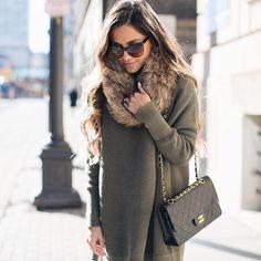 Cozy up in a cowl necked sweater dress and fur snood ala @miamiamine's winter warmer #ootd | Shop her look with www.LIKEtoKNOW.it | www.liketk.it/1Xsf1 #liketkit