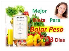 La mejor dieta para bajar peso en 3 días–Dieta de los 3 dias-Dietas rapidas