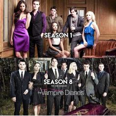 The Vampire Diaries - Season 1 and Season 8 #TVDForever