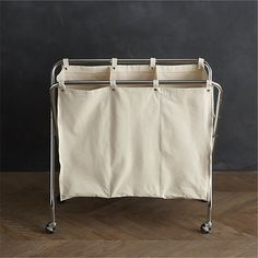 Keep your laundry looking neat and tidy with laundry storage and cleaning solutions from Crate and Barrel. Find laundry baskets, soap, drying racks and Laundry Sorter, Laundry Storage, Bathroom Storage, Storage Baskets, Laundry Baskets, Laundry Rooms, Laundry Hamper With Wheels, Laundry Cart, Basement Laundry