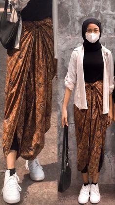 Look Fashion, Hijab Fashion, Fashion Outfits, Womens Fashion, Casual Hijab Outfit, Ootd Hijab, Kebaya Modern Dress, Kebaya Hijab, Batik Dress