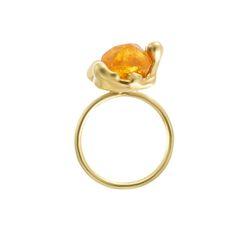 Raw Spessartite Garnet Molten Ring — The Rock Hound Ring Earrings, The Rock, Jewelry Crafts, Garnet, Gemstones, Crystals, Jewellery, Orange, Yellow