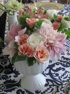 Floral Artistry By Alison Ellis Fresh Flowers, Beautiful Flowers, Milk Glass, Flower Designs, Floral Arrangements, Wedding Flowers, Floral Design, Floral Wreath, Reception