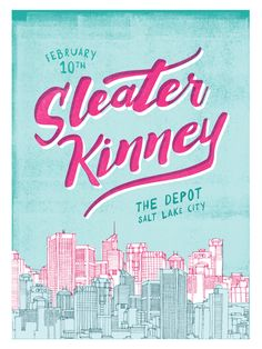 Sleater-Kinney // Pattern Daily // Courtney Blair