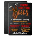 Boo On Booze And Boo Halloween Party Invitation