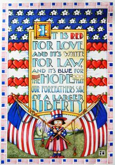 The red, white and blue - Mary Engelbreit
