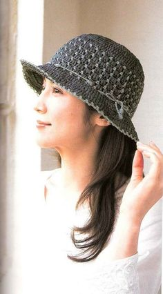 Sombrero a Crochet Poncho Au Crochet, Bonnet Crochet, Crochet Beanie Hat, Crochet Wool, Crochet Scarves, Irish Crochet, Crochet Clothes, Crochet Baby, Knitted Hats