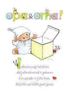 Fonkelnieuw De 64 beste afbeeldingen van Felicitatie geboorte opa-oma OV-96