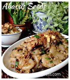 An auspicious Chinese Dish - Hakka Abacus Seeds 算盘子