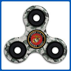USMC (United States Marine Corps) Hand Fidget Spinner Toy Tri-Spinner Hand Fidget Spinner Toy Focus Fingertip Gyro For Autism And ADHD Working Anxiety Stress Gifts High Speed Stainless Steel Bearing - Fidget spinner (*Amazon Partner-Link)