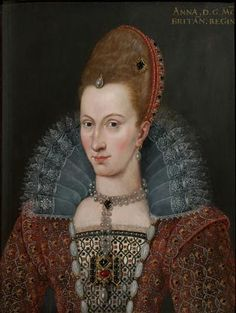 Anne of Denmark (1574-1619) Queen of England, Scotland, and Ireland, consort of James VI and I