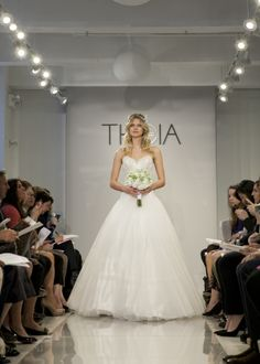 """THEIA Spring 2015 """"Adriana"""" Hand beaded and re-embroidered tulle ball gown"""