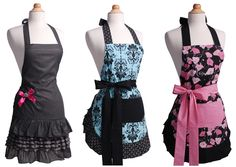I love that aprons have become cute as well as functional. Now I just need to learn how to sew so I can make one.