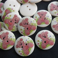 These wooden buttons are perfect for your sewing projects or scrapbooking. These can also be used to make button rings.    • Wood Buttons -
