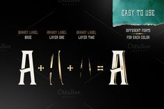 20 Layered Fonts To Create Infinite Combinations ~ Creative Market Blog