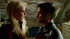 """#CaptainSwan in Operation Mongoose Part 2. I think she's sitting on his lap!! Awwww!!!! """" We don't make eyes!!"""" -Emma Swan. Lol."""