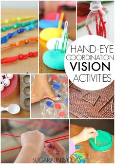 This is a giant collection of visual motor activities and eye-hand coordination activities for kids, including the fine motor activities that kids will love while developing the visual processing skills they need! Visual Motor Activities, Visual Perceptual Activities, Sensory Activities, Learning Activities, Activities For Kids, Physical Activities, Montessori, Occupational Therapy Activities, Sensory Integration