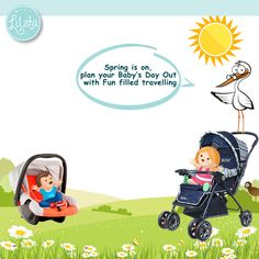 Spring is on, plan your Baby's Day Out with Fun filled travelling. Shop at #Lilsta for branded  #Strollers #Prams #Chicco #Funskool #Luvlap Get it here>>http://goo.gl/cptz7h