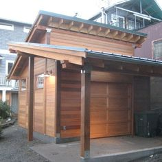 Shed Roof Design with outdoor area for summer work