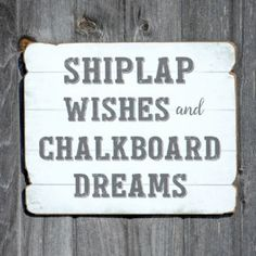 Wooden Shiplap Wishes Sign