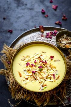 Badam Kheer is a delicious Indian dessert where milk is cooked with almond paste and saffron. Make it for festivities for your house party, it will please everyone. Here is how to make Badam ki Kheer at home. Indian Dessert Recipes, Indian Sweets, Indian Snacks, Indian Recipes, Indian Kheer Recipe, Kulfi Recipe, Diwali Food, Bengali Food, Almond Recipes