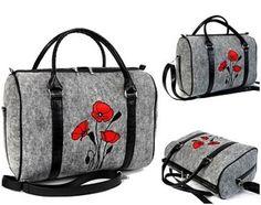 Veľká Kabelka Eko-filc Kufrík s červenými makmi Felt Art, Purses And Bags, Gym Bag, Reusable Tote Bags, Shoes, Fashion, Purses, Totes, Patterns