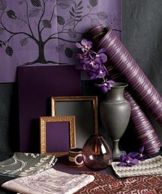 Different shades of plum