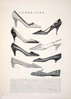 1963 Ad Vintage Shoes Dress Pumps High Heel 60s Fashion Women Grambs Miller YTC3 ca.picclick.com
