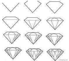 Risultati immagini per How to draw DIAMONDS & SQUARES