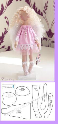 Angel Ragdoll Pattern / looks cute but I'd definitely change the eyes.