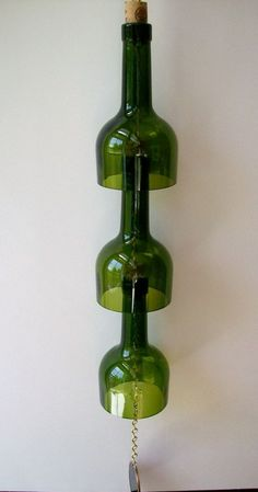 15 DIY Ways How to Reuse Glass Bottles, Glass bottle wind chime