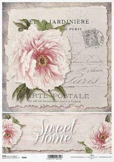 Vintage mode Reispapier A4 Motiv-Strohseide Strohseidenpapier Decoupage Papier