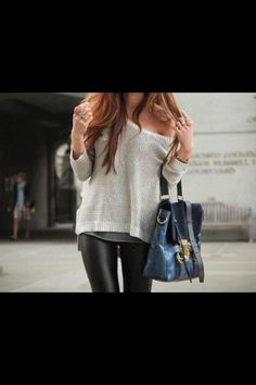 Cute winter legging outfit