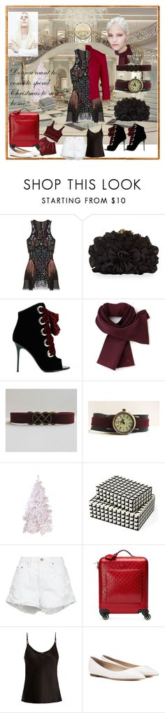 """""""Christmas at his home"""" by jusal08 ❤ liked on Polyvore featuring Mary Katrantzou, Franchi, Giuseppe Zanotti, Lacoste, Interlude, Nobody Denim, Gucci, La Perla and Jimmy Choo"""