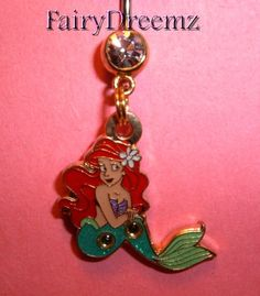 RARE GOLD tone Sitting Pretty Ariel Little Mermaid Princess Disney Belly Navel Ring Jewelry on Etsy, $22.00