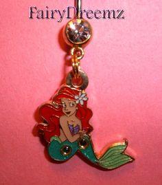 RARE GOLD tone Sitting Pretty Ariel Little Mermaid Princess Disney Belly Navel Ring Jewelry on Etsy, $22.00