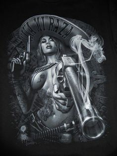 I'm Latina I've got this! Chicano Tattoos, Body Art Tattoos, Fantasy Anime, Fantasy Art, Arte Lowrider, Mexican Tattoo, Cholo Style, Brown Pride, Aztec Art