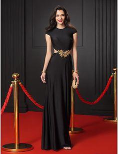 TS Couture Formal Evening Dress - Black Trumpet/Mermaid Jewel Floor-length Jersey 2016 - $89.99